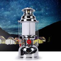 Lamp Kerosene Lantern Set White Light Lighting Antique Steel + Brass + Glass USA