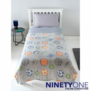 Sports Children's Glow in The Dark Throw Supersoft Glowing Bedding Over Cover