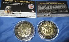 NASA APOLLO 16 Medallion w/Space Flown Command Module Parts~Kennedy Space Center