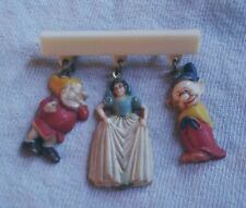 Vintage antique 1930's Disney Snow White celluloid pin back brooch