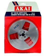 """Original Unopened NOS NEW AKAI 7"""" 7 Inch Metal Take Up Reel toReel Tape Recorder"""