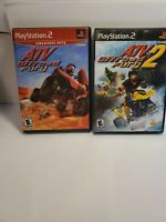 ATV Offroad Fury 1 & 2 (Sony Playstation 2 ps2) Complete Set Lot