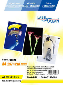 10 sheets Quality OHP  INKJET or LASER Colour A4 CLEAR ACETATE Transparent LO149