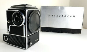 1 Owner - HASSELBLAD 500 EL/M CAMERA BODY W/WAIST Finder w/ Org. Box + Charger