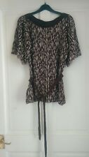 laura ashley cotton linen knitted slash neck belted top 10