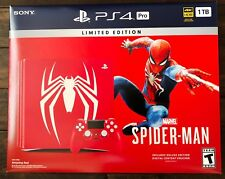 New Spider-Man Marvel Limited Edition PlayStation Pro PS4 Pro Bundle Amazing Red