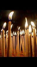 12 hand rolled Fine Conique église bougies abeilles Cire