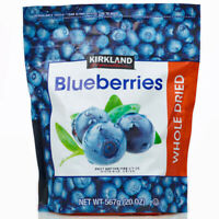 Kirkland Signature Whole Dried Blueberries Sweet Plump Dry Fruit 567g PACK OF 1