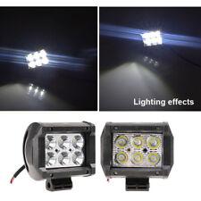 2X 18W Phare de Travail Cree Barre LED Feux Projecteur Offroad 4x4 12V
