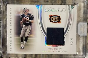 2020 Panini Flawless Tom Brady SGame Used Patch 4/20 🔥 💨