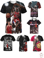 Michael Jordan 3D T-Shirt King NBA Basketball Chicago Full Print Size S - 7XL