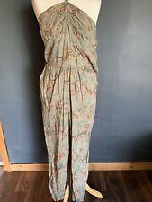 H & M Floral Jumpsuit Halter Neck Boho Hippie Size 10