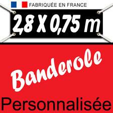Creation&Impression Banderole Bache Kakemono bâche publicitaire 2,80 x 0,75