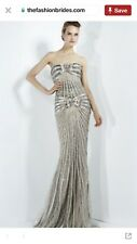 Zuhair Murad Gold /Taupe Embellished Evening Gown 2011-2012 Collection