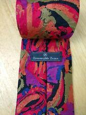Ermenegildo Zegna Men's Necktie Silk designer luxury tie Abstract