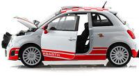 Fiat ABARTH 500 R3T 1:24 scale diecast model metal die cast toy car white