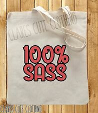 100% SASS cute girls TOTE/SHOPPING BAGS