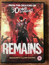 Miko Hughes, Grant Bowler REMAINS ~ 2011 Zombie Apocalypse Horror | UK DVD