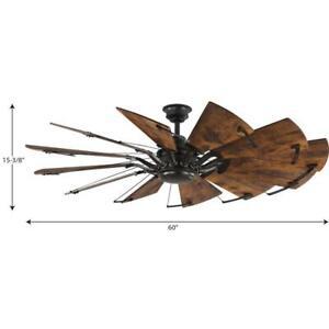 Springer 60 in. 12-Blade Bronze Windmill Ceiling Fan by Progress Lighting