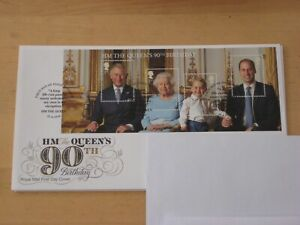 2016 HM The Queen's 90 Miniature Sheet  First Day Cover MS3832 Windsor Handstamp
