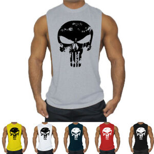 Men Gyms Tank Top Bodybuilding Sleeveless Casual Shirts fitness Crossfit Vests