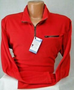 Bills Khakis Fleece Quarter-Zip Pullover in RED MSRP $125 NWT Nice! - XL