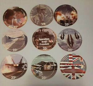 Lot of 9 pogs from the 6th Print  25 cents AAFES  Pogs from 2005  V. Fine - A.U.
