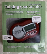 Talking Pedometer with Loud Panic Alarm Red Talking Clock w/Alarm Clip To Belt