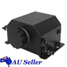 Universal Black 1L Aluminum Engine Oil Catch Can Reservoir Tank Breather Tank