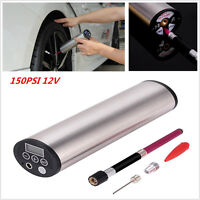 Portable Air Compressor Auto Car Bike Electric Tire Inflator Pump LCD 150PSI 12V