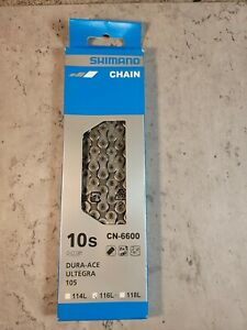 Shimano CN-6600 10-Speed 116L Ultegra/Dura-Ace Hyperglide Road Bicycle Chain