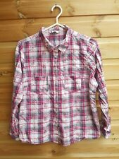 Ladies Red Check & Floral Shirt Size 18 Petite by BHS