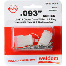 """Molex 9-Pin Connector Socket Kit 0.093"""" 1 Set ( Wire Range 22 AWG to 18 AWG )"""