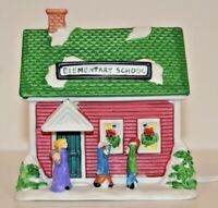Elementary School Building Christmas Holiday Figurine Unbranded - NEW LIGHT