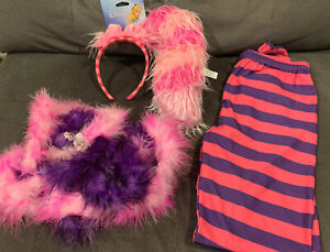 Alice In Wonderland CHESHIRE CAT costume accessories striped leggings+ears+tail