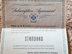 1946 STANDARD Subscription Agreement HOSPITAL SERVICE ASSOCIATION OF PITTSBURGH