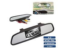 SPECCHIETTO RETROVISORE AUTO MONITOR LCD 4.3 POLLICI PER RETROMARCIA 12V