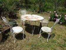 chaise de jardin en fer ancienne en vente | eBay