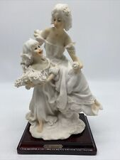 Vtg Armani Statue Sculpture Figurine Mother Daughter Florence Italy 1987 Signed