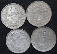 Chile 5 Centavos Coins | Cupro-Nickel | Bulk Coins | KM Coins