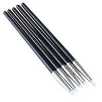 New 5pcs Polymer Modeling Clay Sculpting Tools Dotting Pen Silicone Tips Ball 6L