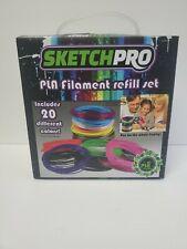 20 Color PLA 1.75mm Filament Plastic Rubber For 3D Pen Refill Set SketchPRO