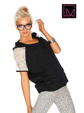 Kapuzen-Shirt-Hoodie mit Spitze Material Girl. Schwarz. Gr. 36/38. NEU!!!