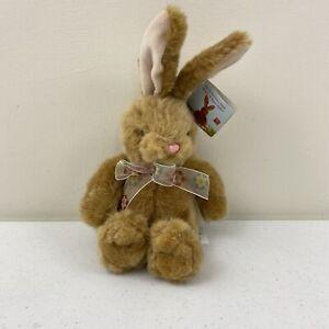 "Russ Berrie Valerie the Easter Plush 10"" Tan Bunny Rabbit w/ Ribbon Avon"