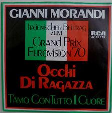 """7"""" GRAND PRIX 1970 (ITALY) GIANNI MORANDI : Occhi La Ragazza"""