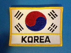 Vintage 1970's Tae Kwon Do Korea Flag Martial Arts MMA Uniform Gi Patch 607