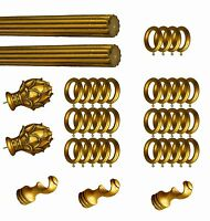 """OD=2 7//8/"""" Drapery wood Rings for Curtain Ribbed Rods 10 per Unit  ID=1 7//8 /"""""""