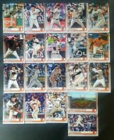 SAN FRANCISCO GIANTS 2019 Topps Series 1 & 2 Complete Team Set (20 cards)
