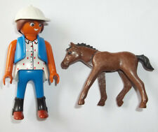 Playmobil,STABLE GIRL WITH COLT,Farm,Foal ,Zoo,Lot # F16,NEW STYLE FACE