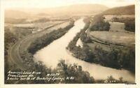 1940s BERKELEY SPRINGS WV View Capon Mountain RPPC Real Photo postcard 2602